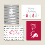 Set of christmas cards royalty free illustration