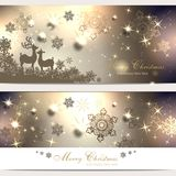 Set with christmas cards. Set with magic christmas cards and christmas greetings Royalty Free Stock Images