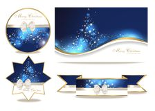 Set with christmas cards. Set with magic christmas cards and christmas greetings Stock Image