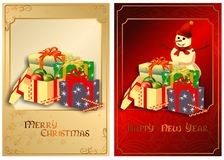 A set of Christmas cards. 01 (Vector) royalty free stock image
