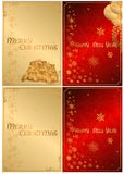 A set of Christmas cards. 02 (Vector) Royalty Free Stock Images