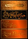 A set of Christmas cards. 03 (Vector) Stock Photo