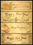 A set of Christmas cards. 05 (Vector) Royalty Free Stock Images