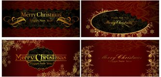 A set of Christmas cards. 07 (Vector) Stock Photography