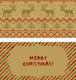Set of Christmas cards Royalty Free Stock Images