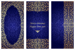 Set of christmas cards in Victorian style. Stock Image