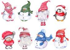 Set of Christmas cartoon characters