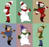 Set of christmas character Stock Image