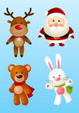 Set of Christmas characters Stock Images