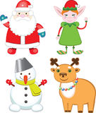 Set of christmas characters Royalty Free Stock Photo