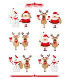 Set of Christmas characters Royalty Free Stock Photography