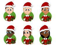 Set of Christmas children cartoons Royalty Free Stock Photography