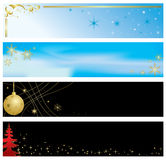 Set of christmas color banners - vector Stock Image