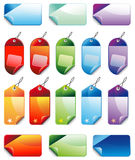 Set of Christmas Colorful Promotional sales price Stock Images