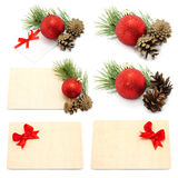 Set of Christmas compositions Royalty Free Stock Photos