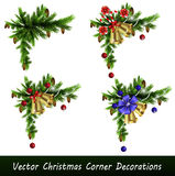 Set of Christmas corner decorations  Stock Photography