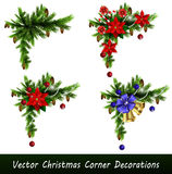 Set of Christmas corner decorations  Stock Image