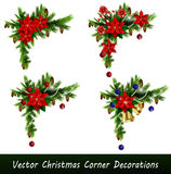 Set of Christmas corner decorations  Royalty Free Stock Image