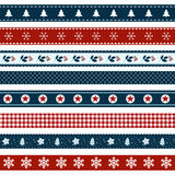 Set of Christmas decorated ribbons Royalty Free Stock Photos