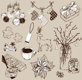 Set of Christmas decoration collection and design elements Stock Photos