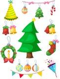 Set of Christmas decoration Stock Photo