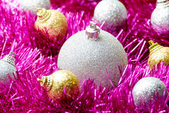 Set of Christmas decoration Royalty Free Stock Photo