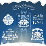 Set of Christmas decoration typography tag and label. Design. Merry Christmas and happy new year 2017. Vector illustration Royalty Free Stock Photography