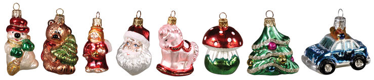 Set of christmas decorations Stock Photo