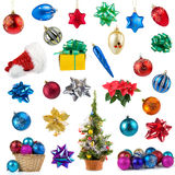 Set of Christmas decorations Stock Photography