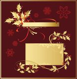 Set_of_Christmas_decorations Royalty Free Stock Photo