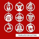 Set of Christmas decorations - balls royalty free illustration