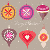Set of Christmas decorations Royalty Free Stock Image