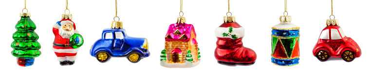 Set of christmas decorations Royalty Free Stock Images