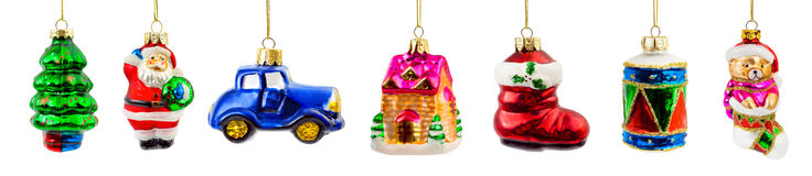 Set of christmas decorations Stock Images