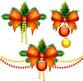 A set of Christmas decorations Royalty Free Stock Photography