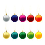 Set of Christmas decorations. Vector illustration Stock Image