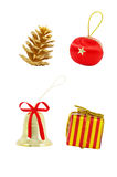 A set of Christmas decorations Stock Image