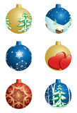 Set of  christmas decorative balls - vector Stock Images