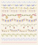 Set of Christmas and decorative elements. Gifts, Royalty Free Stock Images