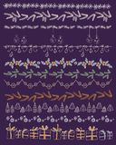 Set of Christmas and decorative elements. Gifts, Stock Image
