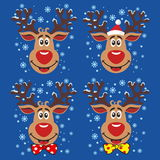 Set of Christmas deer Stock Photography