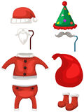 Set of Christmas deer costume Royalty Free Stock Image