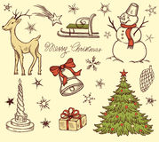 Set of Christmas design elements Royalty Free Stock Images