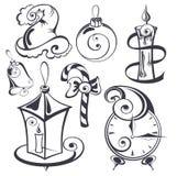 Set of Christmas design elements Royalty Free Stock Image