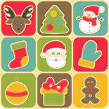 Set of Christmas design elements for babies. Stock Images
