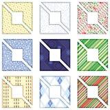 Set of Christmas design elements - Corners for pho vector illustration