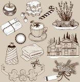 Set of Christmas design elements vector illustration