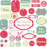 Set of Christmas design labels Stock Photo