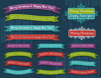 Set of Christmas design, vector Stock Photography