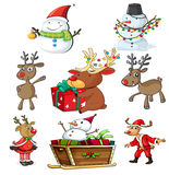A set of christmas designs Stock Photos